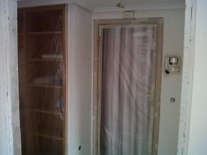 tapado de armarios para pintura de vivienda