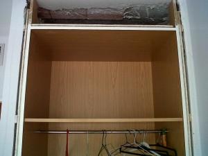 lacado perfiles de armarios en blanco