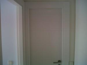 puerta baño lacada blanco