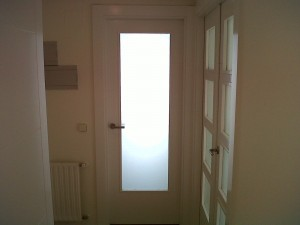 cristal mate puerta vidriera en cocina
