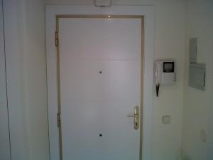 panelado puerta entrada blindada lacado blanco