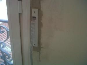 cambio recogecintas empotrados en paredes