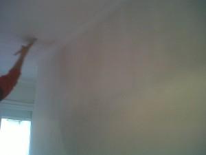 aplicación y alisado techos