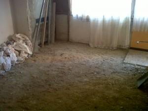 demolición y retirada de suelos vivienda