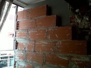 pared nueva con aislante