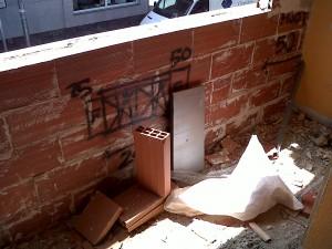 tabique para nuevo cerramiento en fachada vivienda 2