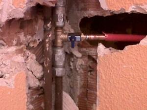 general y enganche calefacción central llaves ida y retorno