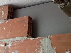detalle aislante en muros nuevos