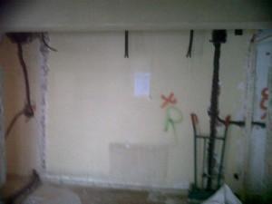 preparación de paredes reforma y rozas instalaciones
