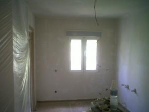 preparación paredes lisas
