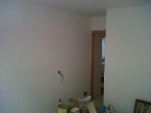 paredes liso en vivienda