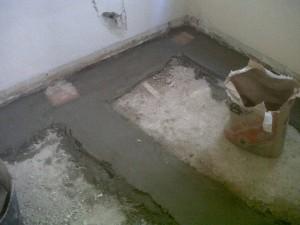 nivelación de suelos en vivienda
