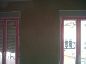 aplicación de yesos en paredes