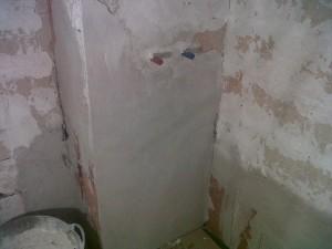 preparación paredes baño