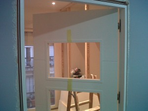 puerta salón v4 lacada vidriera