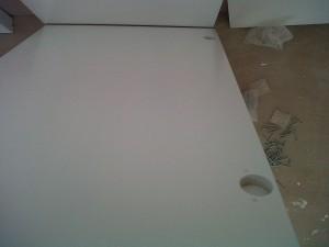 frente armarios hojas a medida lacadas blanco