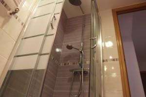 mampara cristal ducha perfiles inox acero