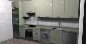 diseño de cocina sobre planos