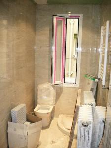 baño pequeño alicatado solado en reforma
