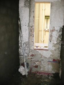 preparación de paredes de baño previo alicatado