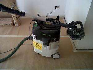 maquina lijadora con aspirador para pintura en liso sin polvo